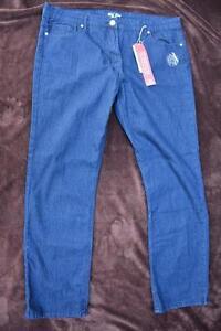 RIVERS-Blue-Denim-Jeans-MID-WASH-Stretch-Mid-Rise-Size-18-NEW-Straight-leg