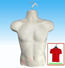 New Male Mannequin Formhard Plastic Manikin Display Torso Men T Shirt Flesh