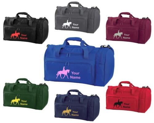HO6 PERSONALISED PRINTED HOLDALL WITH HORSE DESIGN bag pony boot Riding