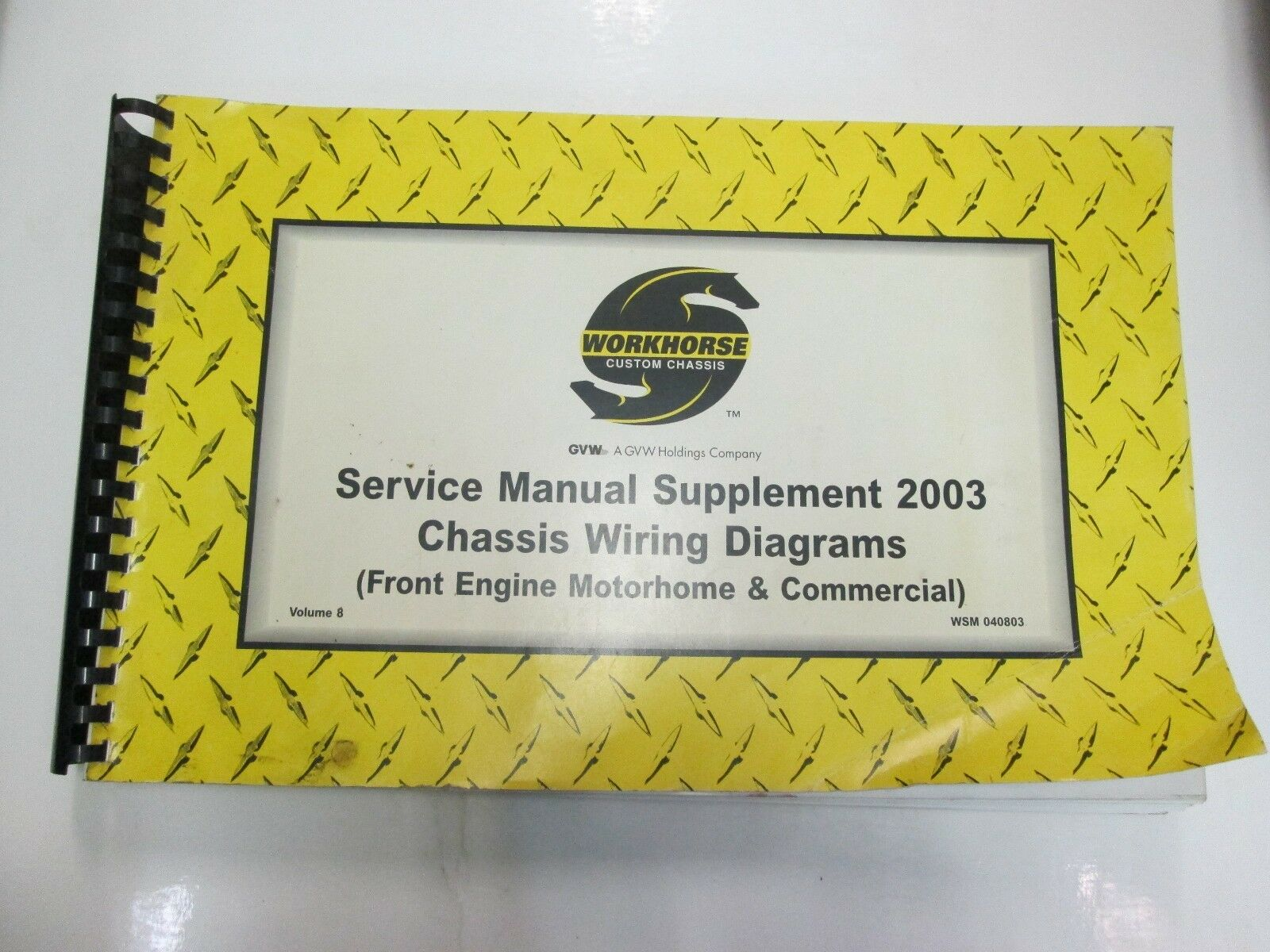 Workhorse Custom Chassis Service Manual Supplement Chassis Wiring Diagrams  VOL 8 | eBay
