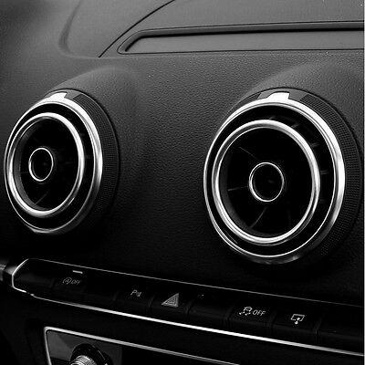Audi A3 S3 Sportback Limousine 8V Lüftungsdüsen Lüftungsgitter Zierringe silber