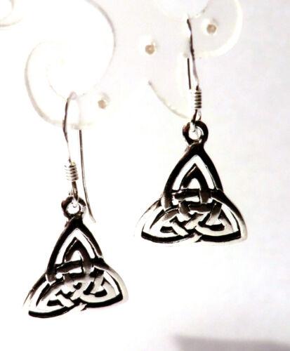 keltischer Knoten Ohrringe Trinity 925 Sterling Silber Celtic Ohrhänger Neu