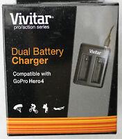 Neu Vivitar Dual Batterie Ladegerät Für Gopro Hero 4