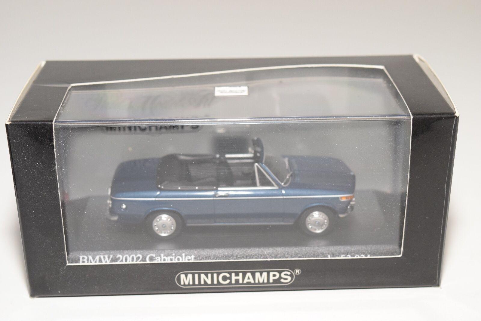 . MINICHAMPS BMW BMW BMW 2002 E10 CABRIOLET 1971 METALLIC blueE MINT BOXED 95d324