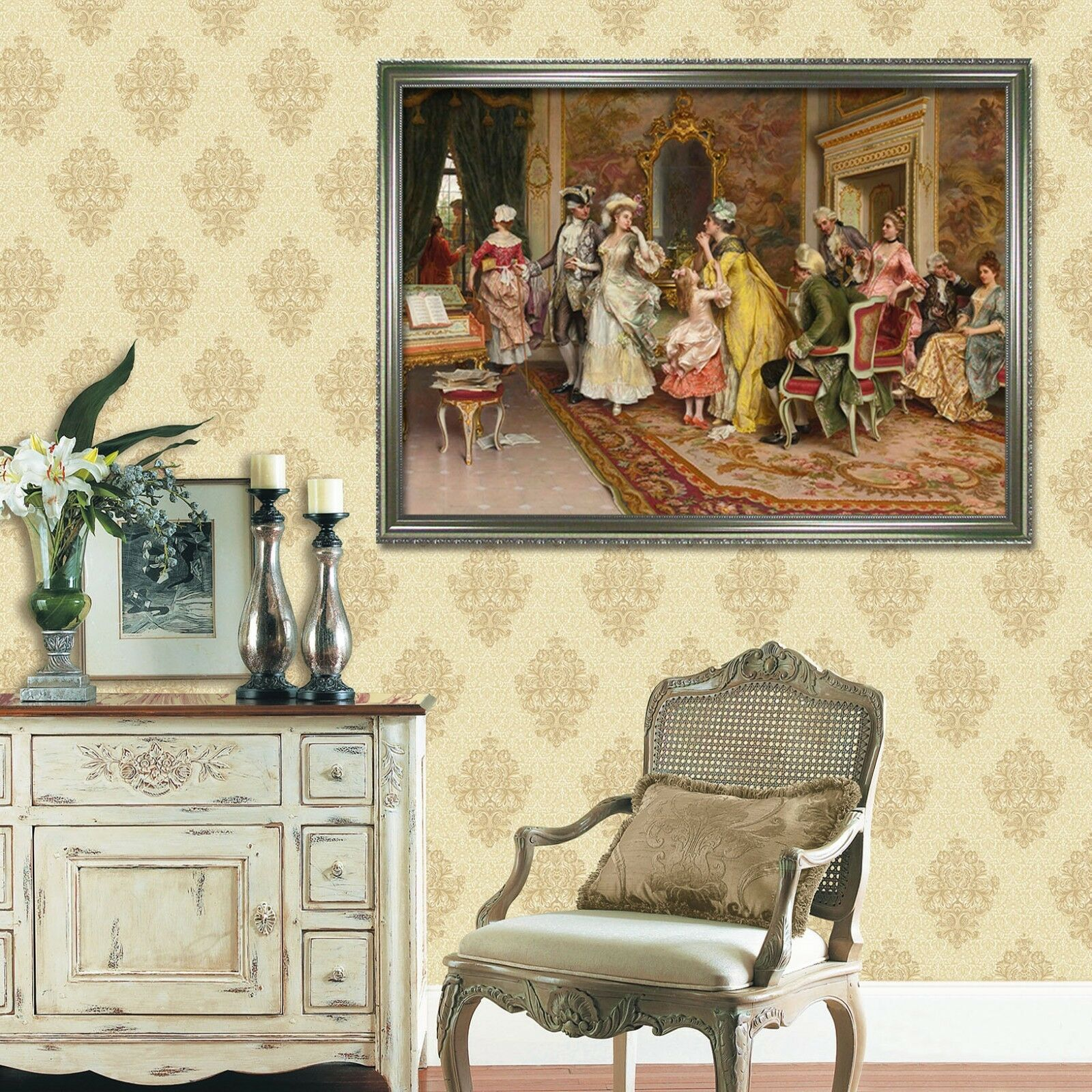 3D European Dance Hall 1 Framed Poster Home Decor Print Painting Art WALLPAPER