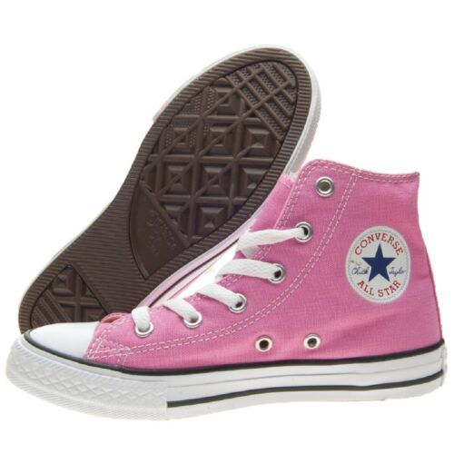 CONVERSE 3J234C Yths C//T All Star Hi Pink Rosa Baby Bambina Tela Sneakers alte