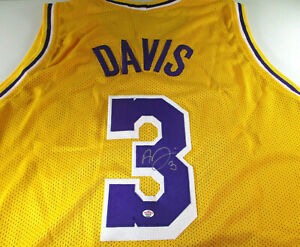 Details about ANTHONY DAVIS / AUTOGRAPHED LOS ANGELES LAKERS CUSTOM BASKETBALL JERSEY / COA