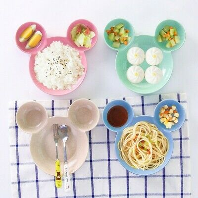 Child Cartoon Mickey Straw Bowl Creative Friendly Bowls Cereal Ice Cream Plate