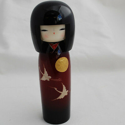 Japanese Kokeshi Doll - Authentic - Handmade in Japan - Sunset Crane