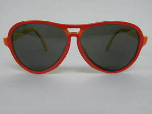 e89b064d303 Vintage B L Ray Ban Vagabond Red Orange Yellow Olympic Games Aviator ...