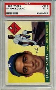 1955-55-Topps-Baseball-Sandy-Koufax-Rookie-Card-PSA-5-Dodgers