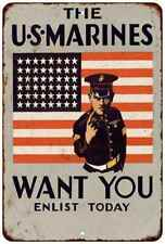 US Marines USMC Wants You Vintage Reproduction Gift 8x12 Metal Sign 108120067138
