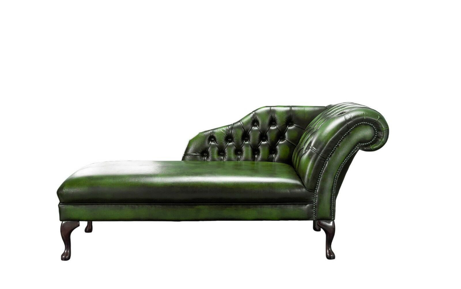 - Handmade Chesterfield New Genuine Leather Chaise Lounge Day Bed