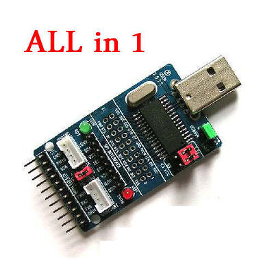 ALL IN 1 Multifunction USB to ISP/I2C/IIC/UART/TTL/SPI Serial Adapter Module New