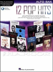 12 Pop Hits Instrumental Play-along Pour Saxophone Alto Partitions Livre Audio/adele-afficher Le Titre D'origine