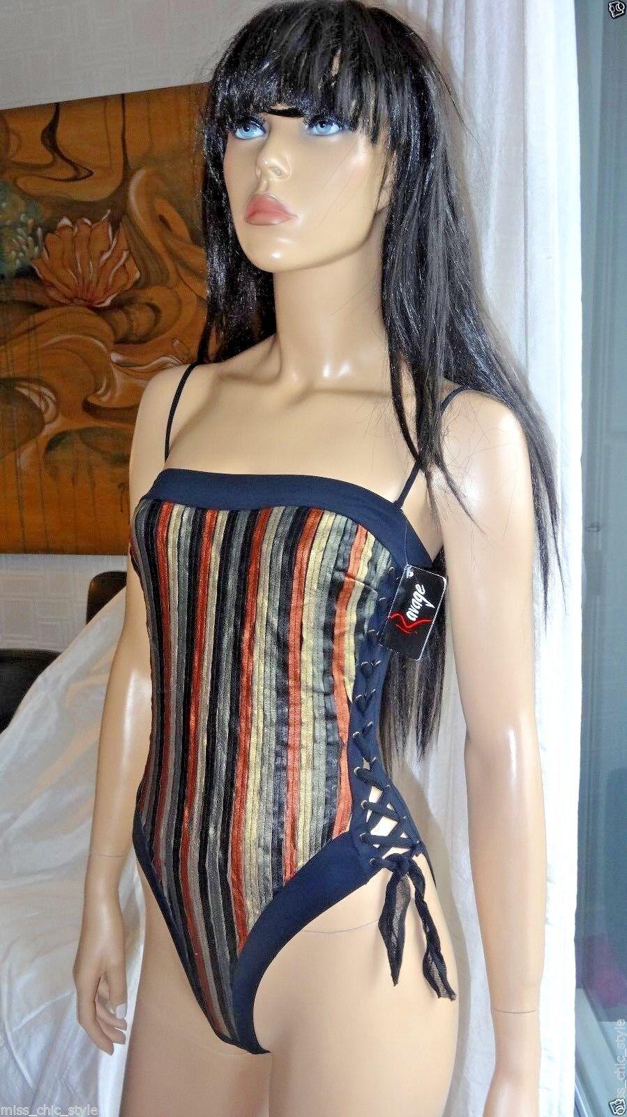 Stunning RAVAGE FRENCH BRAND one piece MARRAKECH swimsuit sz EU2 XS 32 NWT  239