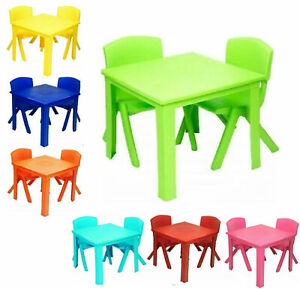Toddlers-Kids-Chairs-and-Table-set-Strong-Plastic-study-play-table-Study-Garden