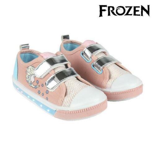 Sneaker Velcro Chaussures Filles Chaussures De Loisirs Avec Voyants Frozen 73621 Rose