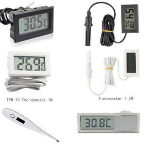 Fish Tank Aquarium Temperature Gauge LCD Digital Display Thermometer Black//White