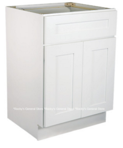 White Shaker Bathroom Vanity Base Cabinet 24