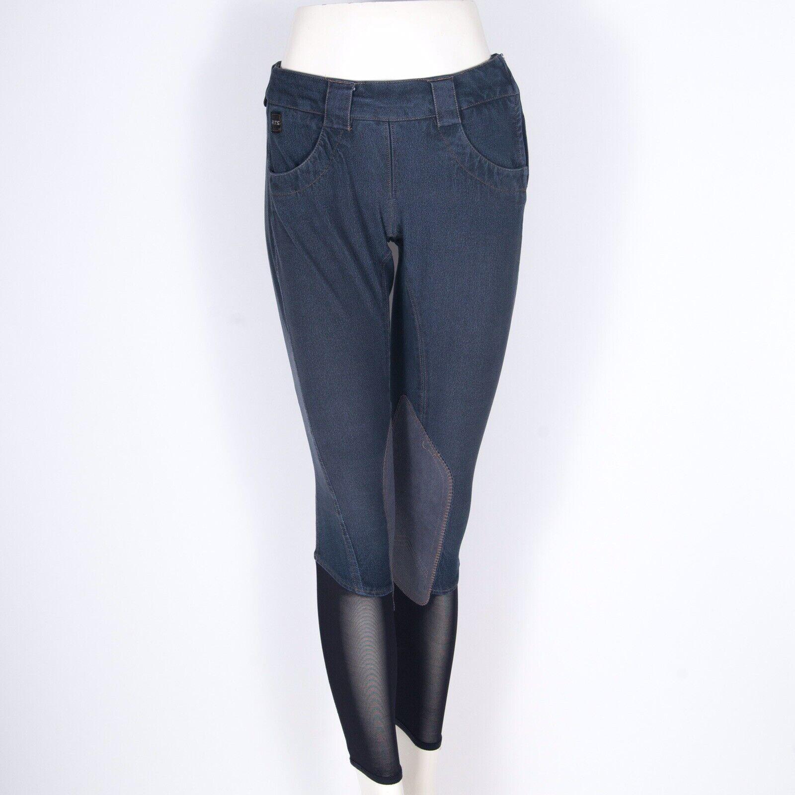 FITS Denim Riding Breeches Equestrian Pants blu XS