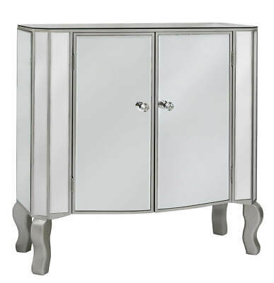 Venice Mirrored glass dressing cabinet sideboard with 2 doors 80cm