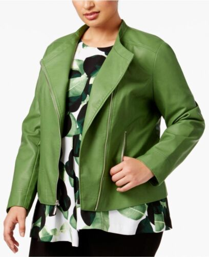 8121 Plus Faux Jacket Alfani 2x Willow Green Size Moto læder Bough RZnnwgHq