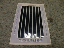 Microscale  decals HO O S G All Scales PS-7 1/2 inch dk blue parallel stripe C33