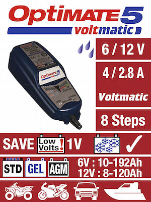 Optimate 5 12V 2.8A Motorcycle Battery Saving Charger and Maintainer 2019 NEW