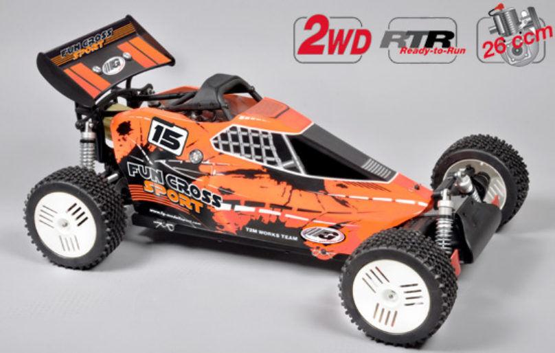 FG modellsport Fun Cross Sport 2wd RTR 26 CCM Cámara Combustión 670070r