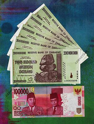 Indonesia Rupiah Idr 5 X 200 Million