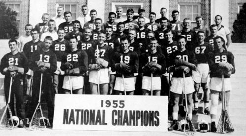 University of Maryland Championship Lacrosse Squad Photo 1954-5