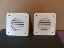 *RV SET OF TWO WHITE BATTERY BOX VENTS