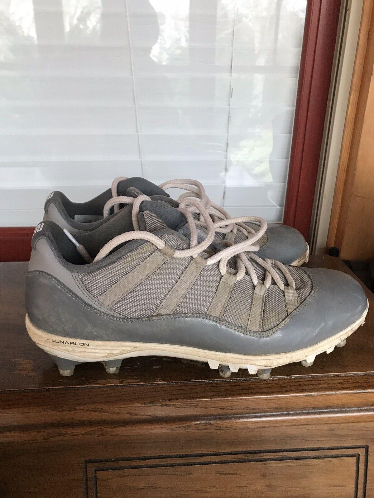 best cheap 0e10e 95525 Nike Jordan Low 11 Cool Grey Grey Grey Cleats Size 12 9a280d ...