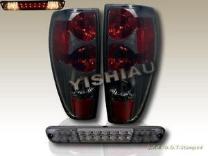 04-10 CHEVY COLORADO 04-08 LED BRAKE LIGHT Comb GMC CANYON TAIL LIGHTS BLACK