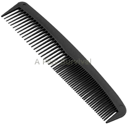 Lot of 10 - 7 Plastic Hair Combs - Survival Hygiene Church Mission Shelters