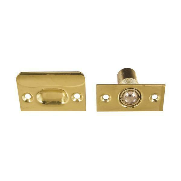5 Pk Solid Polished Brass 7 8  Dia Hole Door Cabinet Ball Catch Latch N216150