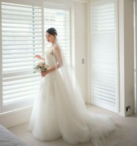 Pronovias Wedding Dress Prala Size 6 8 Tulle Ball Gown Low Back Sheer Ebay,Lace Beach Boho Wedding Dress