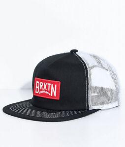 BRIXTON LANGLEY BLACK WHITE SNAPBACK TRUCKER HAT CAP 100% AUTHENTIC ... 5009ac80a859