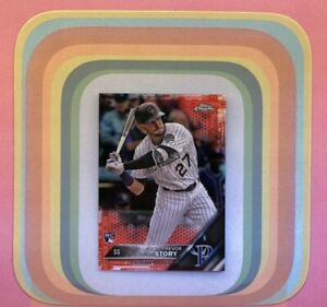 TREVOR STORY #45 RC Red #1/5 2016 Topps Chrome Refractor Rockies Yankees MINT++