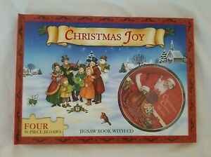 Christmas Joy Hardcover Jigsaw Book with CD And 4 - 48 Piece Jigsaw Puzzles