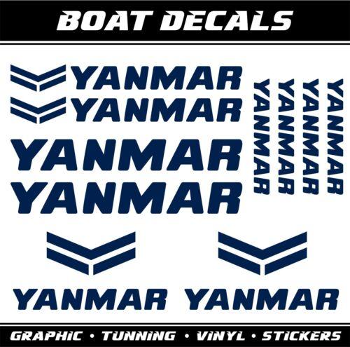Yanmar marine stickers boat decals sailboat fishing nautical mini bagger diesel