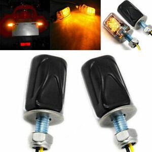 2 x Tiny Mini Micro Motorcycle Amber LED Indicators Blinkers Turn Signal Amber