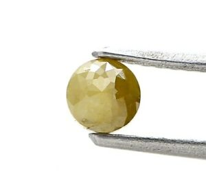 Fancy Natural Diamond 0.37Ct Yellow Gray Mix Sparkling Round Tambuli Cut for Gif