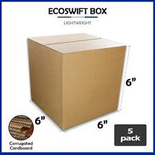 5 6x6x6 Ecoswift Brand Cardboard Box Packing Mailing Shipping Corrugated