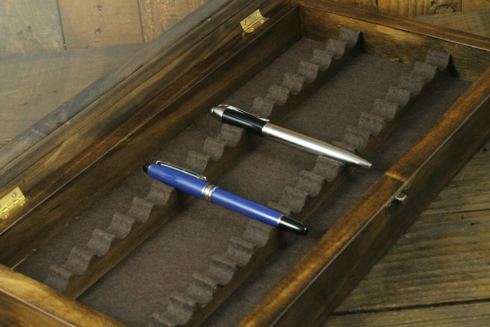 Wood Box Pens, Wood Pen Case, 18 Fountain Pens, Storage Fountain Pen,...