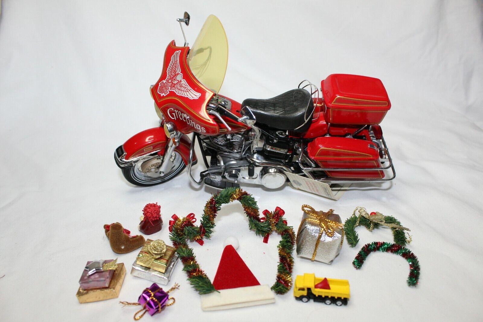 Franklin Mint 1 10 Escala de Harley-Davidson Electra Glide Edición De Navidad-flojo