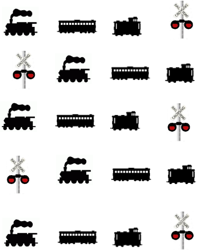 Train Silhouette Waterslide Nail Decalsnail Art Ebay