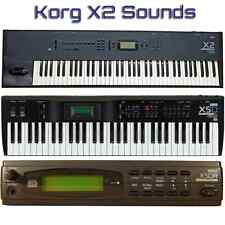 Korg X2, X3, X3R, X5, X5D, X5DR - Largest Sound Collection