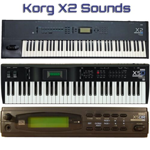 X5DR X3R X3 Most Sounds: Korg X2 X5D X5
